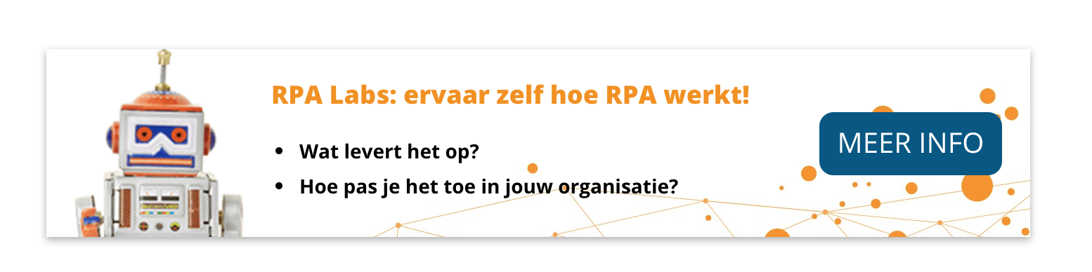 RPA Labs is een RPA workshop om awareness te creeren.